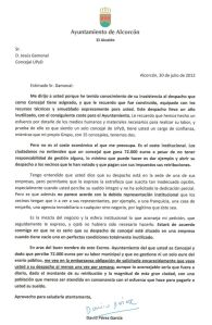Carta a Jesús Gamonal